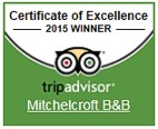 Trip Advisor - Certificate of Excellence 2015 winner