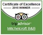 Trip Advisor - Certificate of Excellence 2015 winner